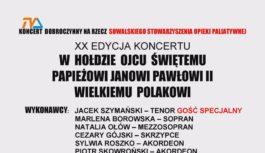 Doroczny koncert dobroczynny – w hołdzie Janowi Pawłowi II